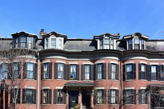 Row houses in the South End, Boston