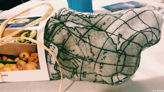 Map scarves by Shatter the Looking Glass