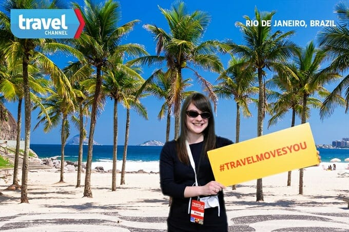 Travel show photo booth