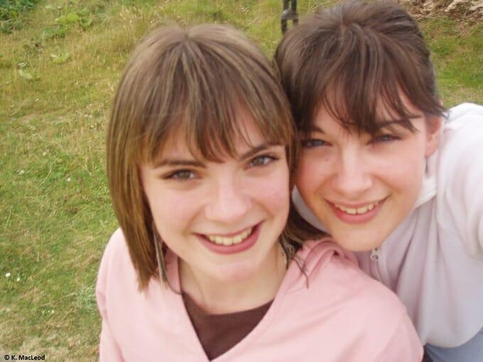 Best friend selfies in Ness, Isle of Lewis