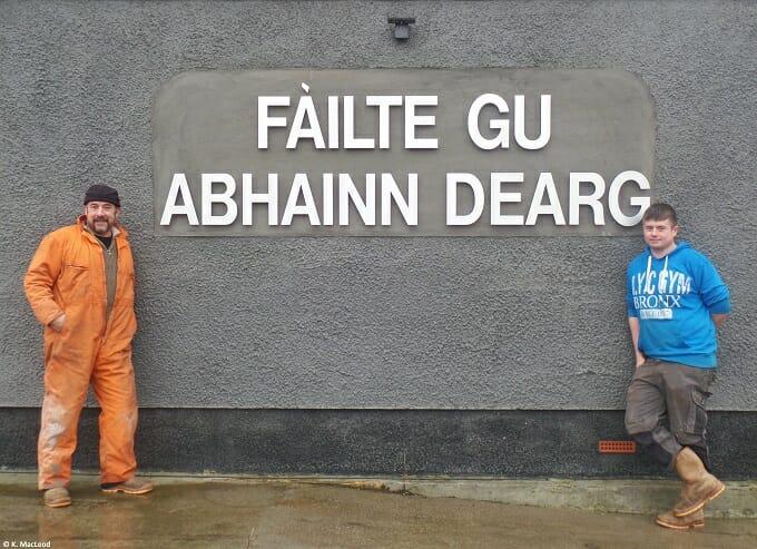 Marko and Scott at Abhainn Dearg Distillery