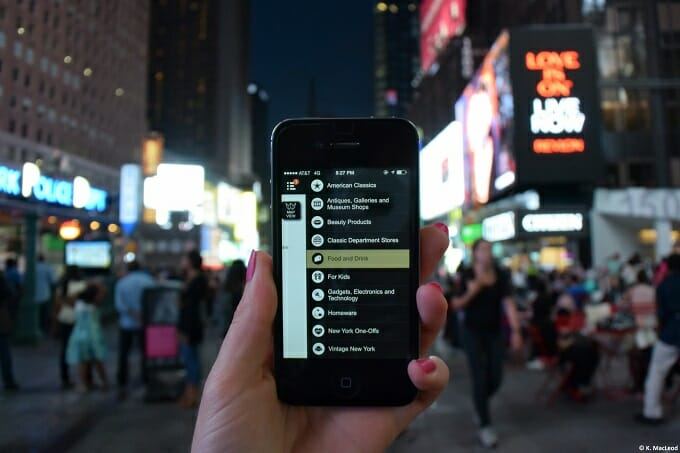 Using the iPhone in Times Square