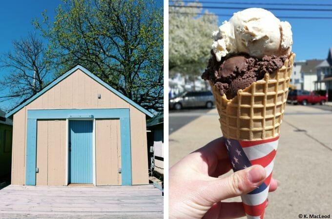 Beach huts and ice cream, Ocean Grove