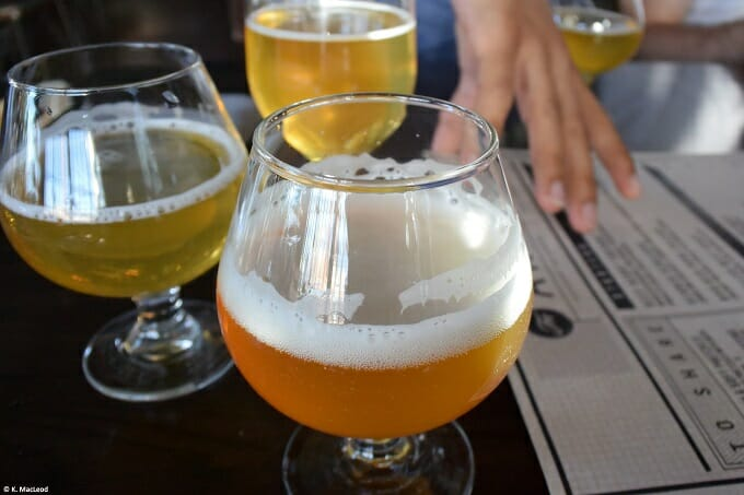 Beer flights at Bluejacket in Washington, DC