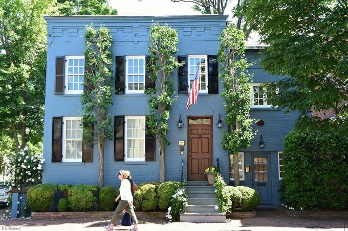 Blue home in Georgetown, Washington DC