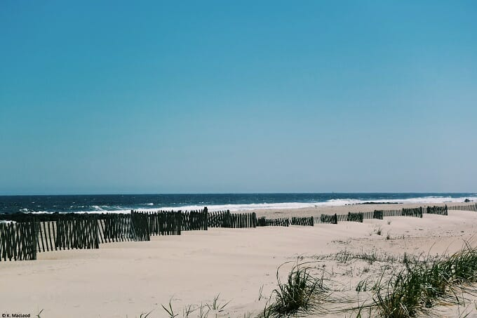 Sand dunes at the Jersey Shore