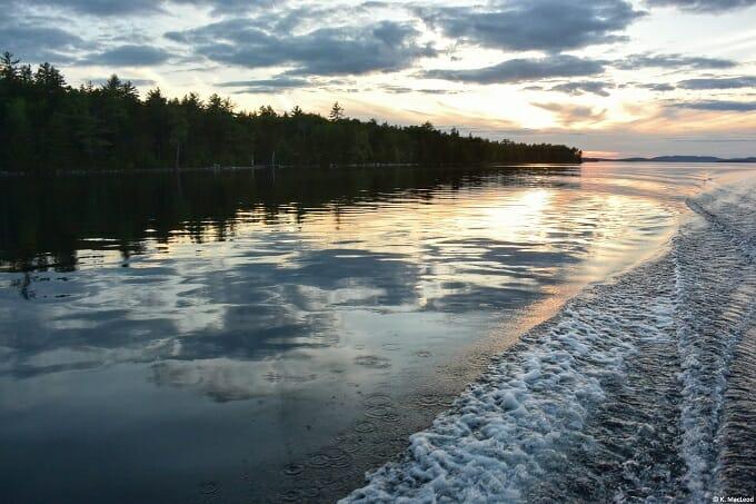 A sunset cruise on Grand Lake Stream