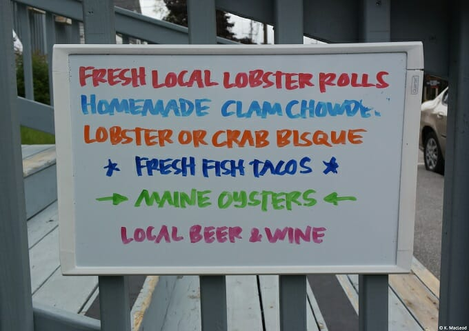 Local seafood for sale in Bar Harbour