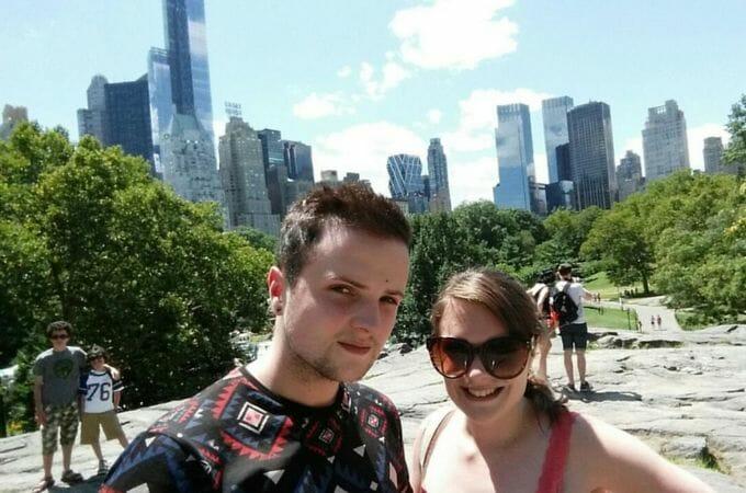 Sightseeing selfie in Central Park
