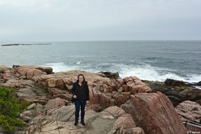 Standing at the edge of Maine's red granite coast