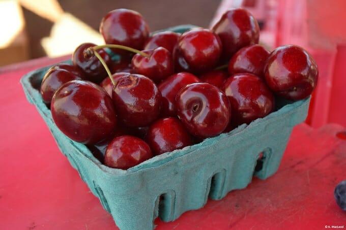 Cherries at Logan Square Farmer's Market