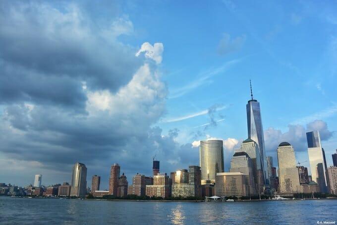 Lower Manhattan seen from the Hudson River