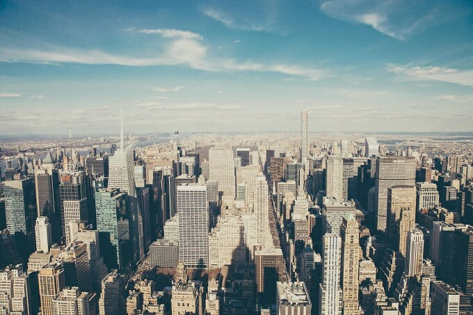 New York Skyline from the air