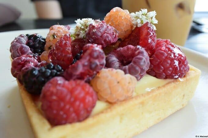 Raspberry tart at Cellar Door Provisions