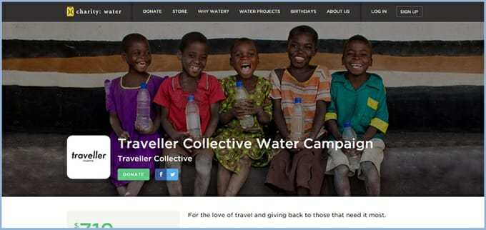 Traveller Collective Water Campaign