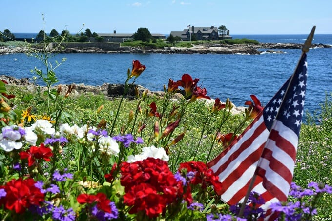 American flag by Walkers Point, Kennebunkport