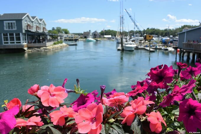 Flowers on the bridge at Kennebunkport, Maine