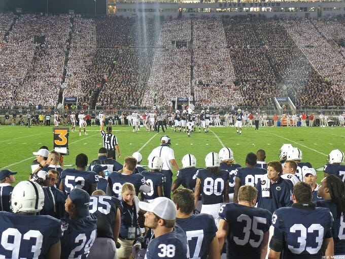American football players at Penn state