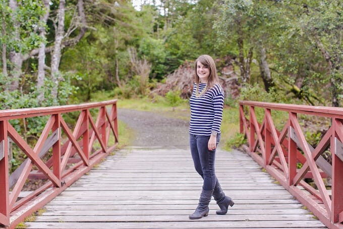 Crossing a bridge over the River Creed, Stornoway