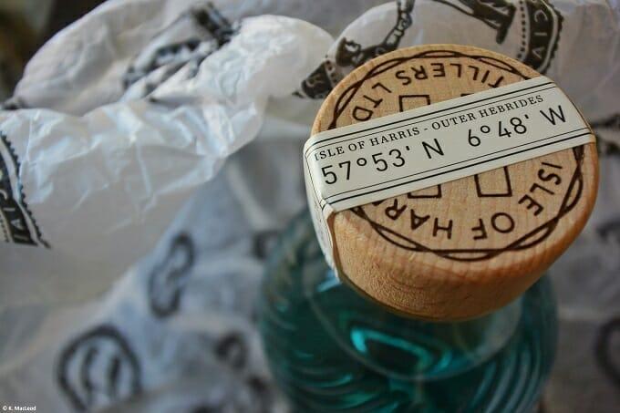 Isle of Harris Gin Bottle Coordinates