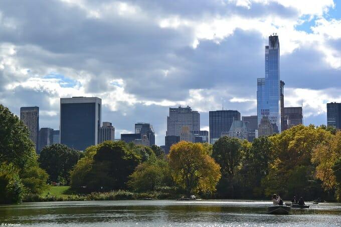 Manhattan skyline over Central Park