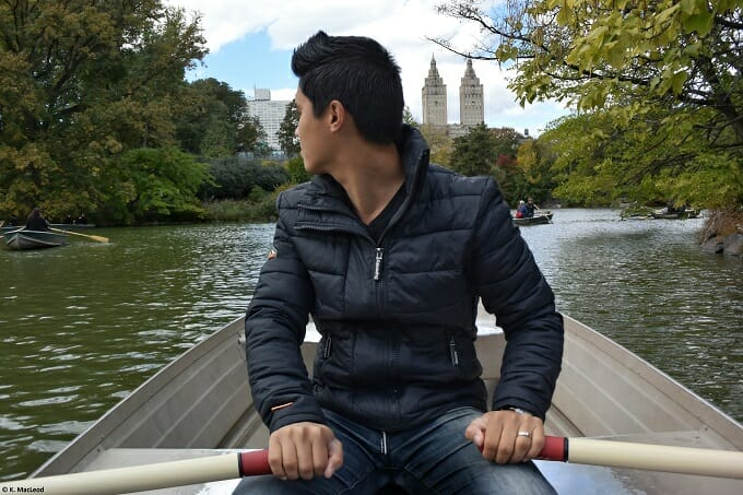 Rowing the boat in Central Park