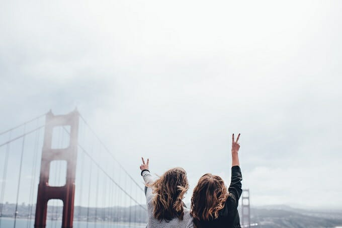 Girls who travel in San Francisco