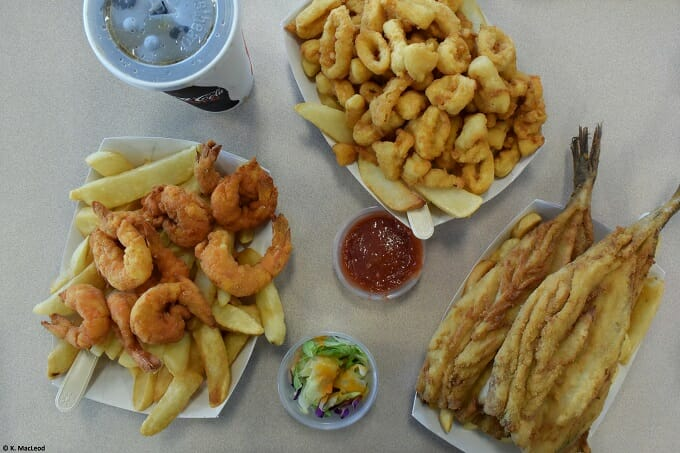 Seafood at City Island