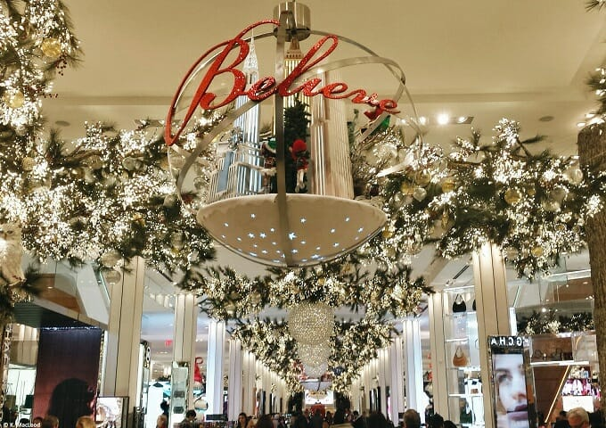 Macy's Christmas Decorations in New York