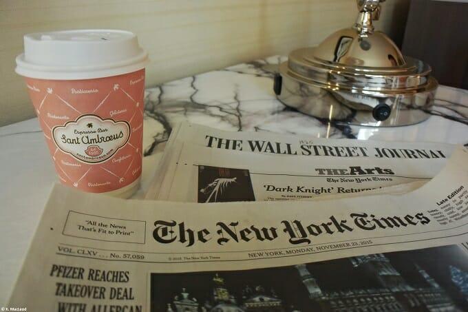 Saint Ambroeus Coffee at Loews Regency New York
