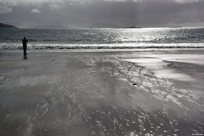 Reflections on Huisinis beach