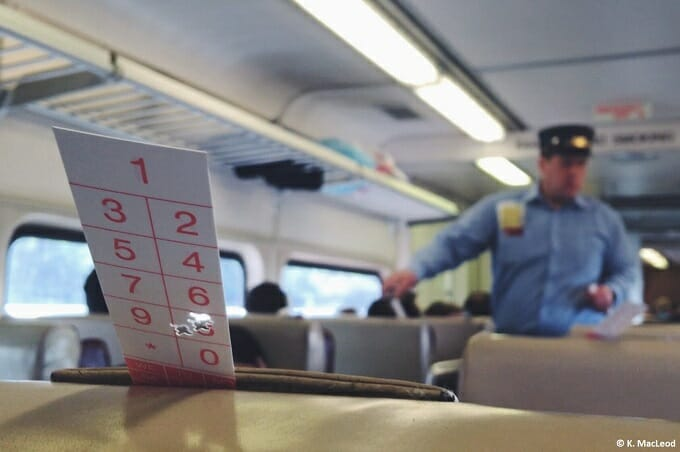 Amtrak train conductor