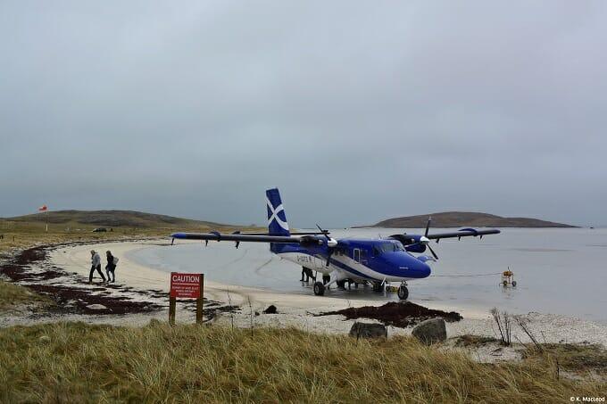 Barra airport beach