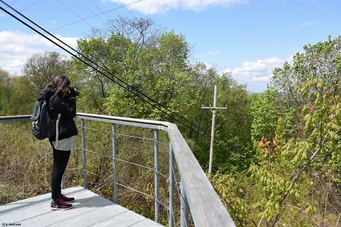 Taking photos on Mt Beacon
