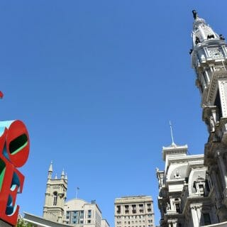 Love Statue and City Hall Philadelphia