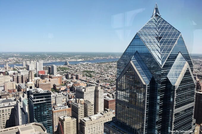 Philadelphia skyline at Philly from the Top
