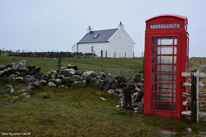 Red phone box Isle of Barra