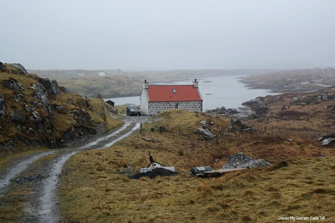 Red roof building Isle of Barra