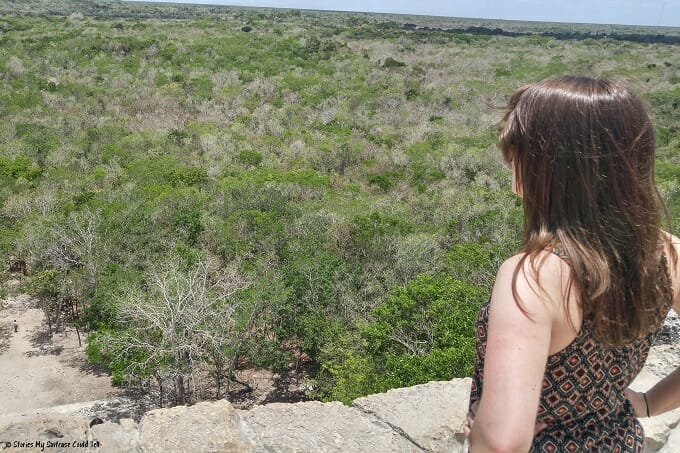 Looking out over the Coba jungle