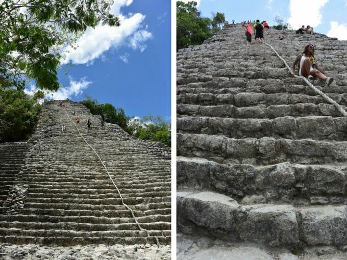 Mayan temple steps at Coba