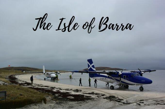Plane landing Isle of Barra