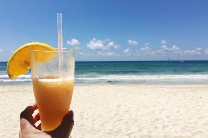 Cocktails on the Riviera Maya