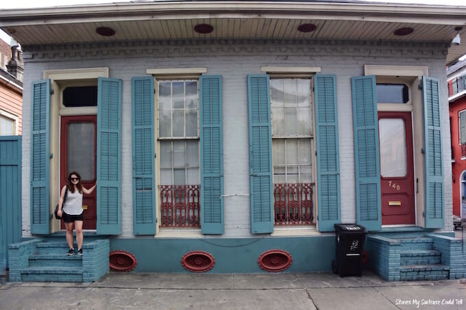 Blue house French Quarter New Orleans