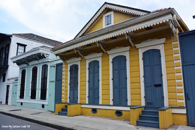 Colourful homes New Orleans
