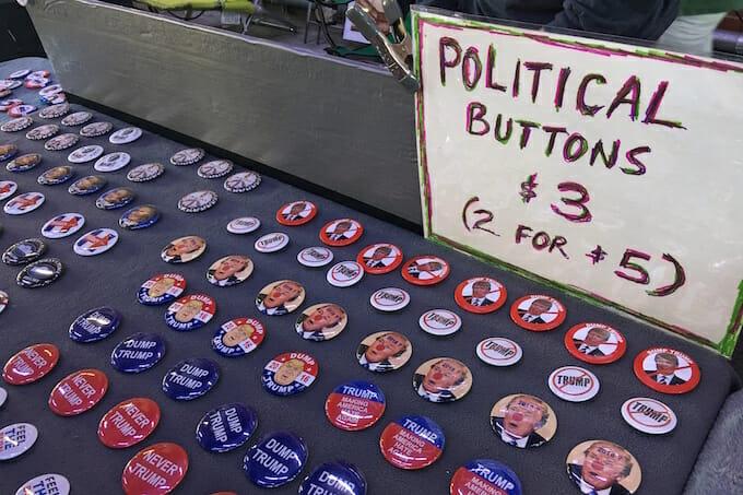 US Election Political Buttons