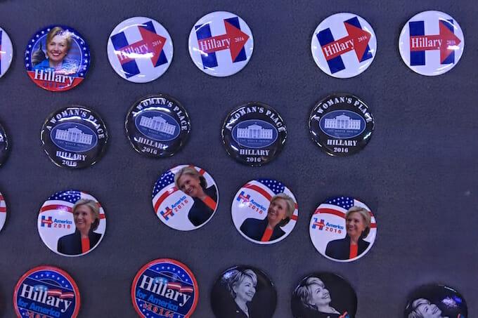 Hillary Clinton political badges