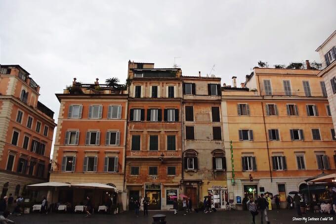 Buildings in Trastevere