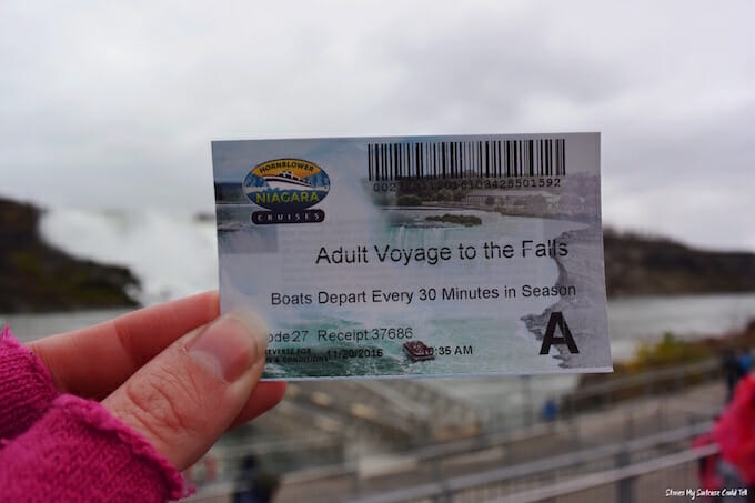 Niagara Falls Cruise Ticket