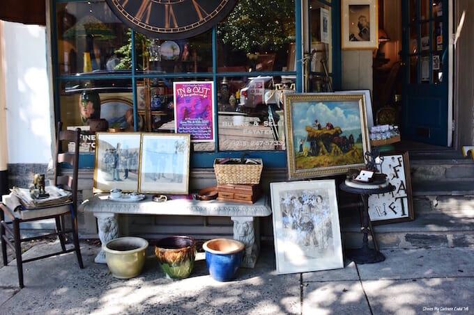 Antiques outside shop