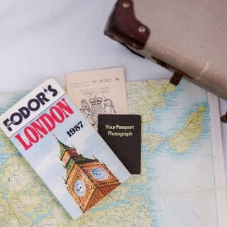 Outer Hebrides map and suitcase